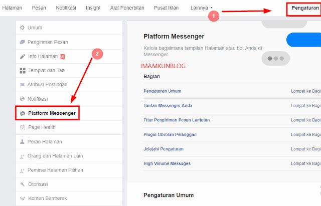 Memasang Plugin Live Chat Facebook