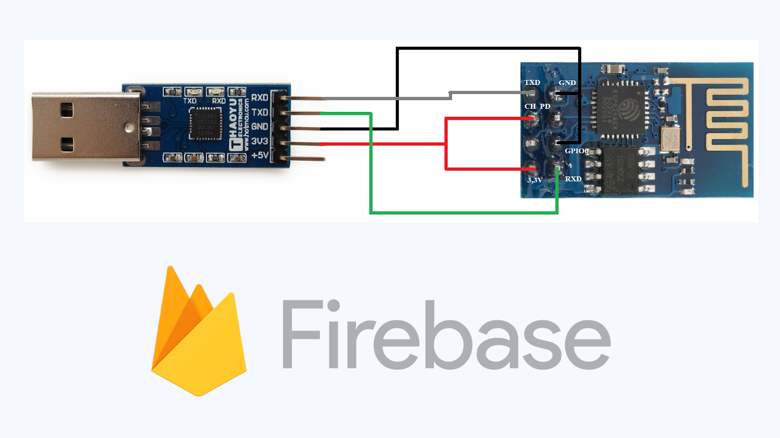 ESP8266 -01 connect with Firebase Database ESP-01 Module