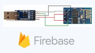 ESP8266-01 Firebase Connection Diagram