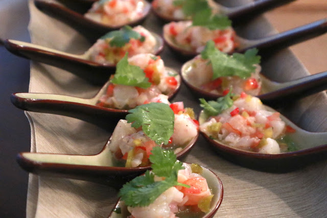 Prawn & Scallop Ceviches at Bodega 124