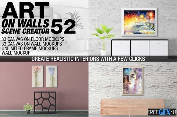 Canvas Frames Mockups v 52