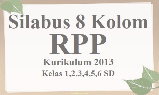 Silabus 8 Kolom dan RPP K-2013 Kelas 1,2,3,4,5,6 SD