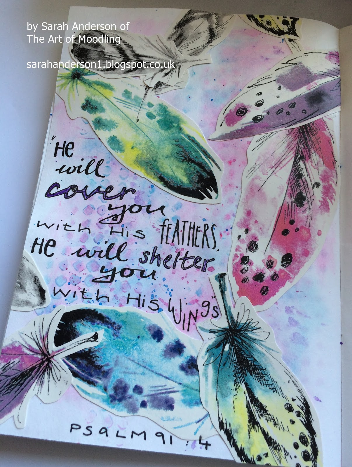 Bible Art Journaling UK: Covered with His Feathers - by