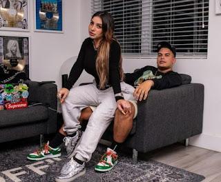 Jeremy Ayala Gonzalez with his girlfriend Andrea De Castro Font