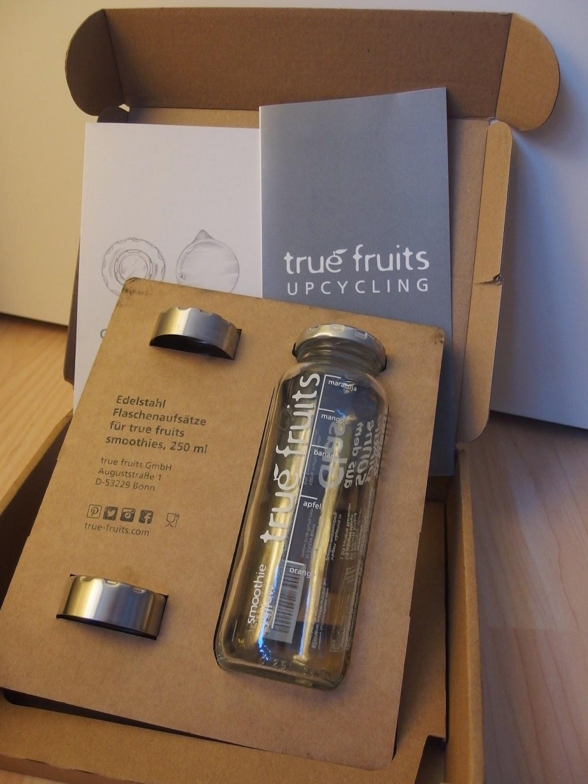 Das kleine Testcafé: Upcycling mit true fruits Smoothies