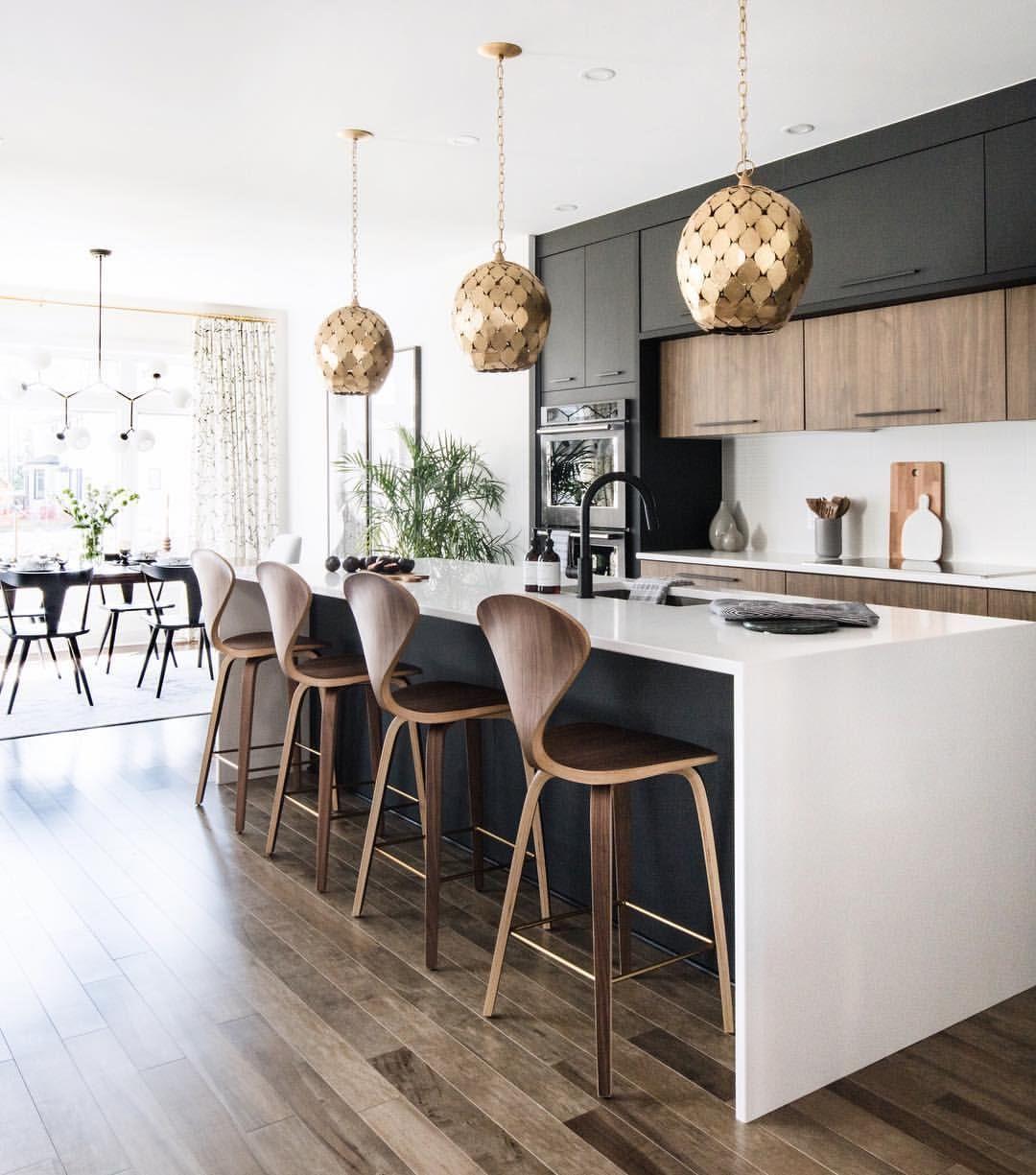 Innovative Black White Wood Kitchens Design Idea