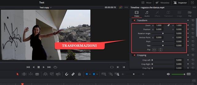 trasformazioni clip video