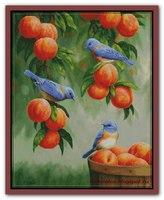 Дрозды и персики