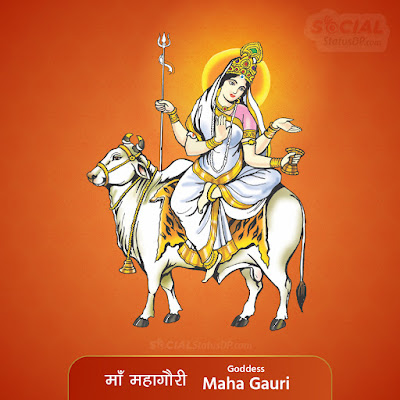 Maa Mahagauri Image - Nav Durga Images with Names, Mantra, Slokas, Wallpaper