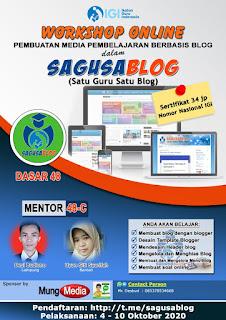 Laporan Mentor Workshop Online SAGUSABLOG 48 Dasar