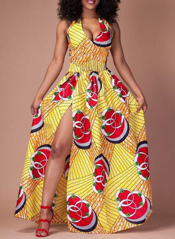 Unique Maxi Ankara Dress
