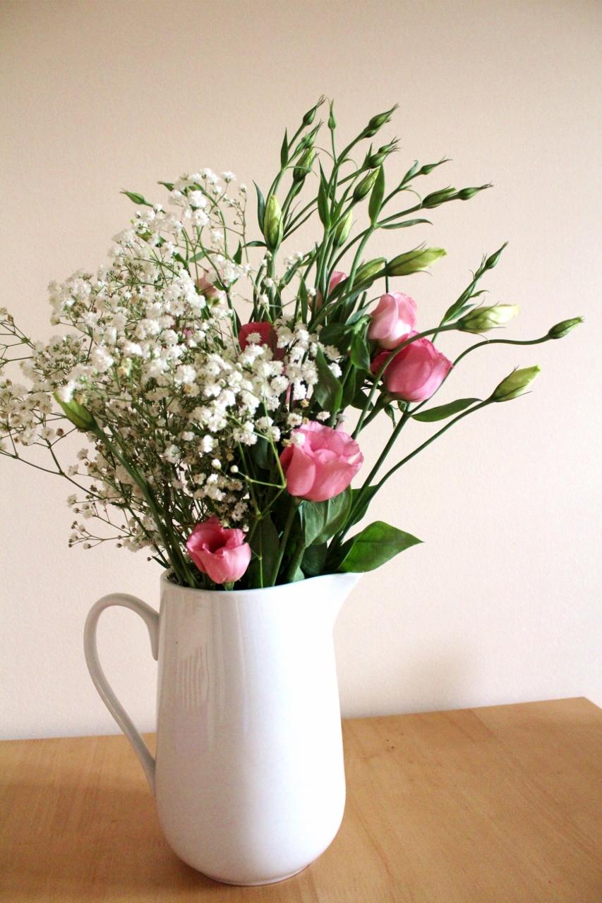 Fresh flowers in jug