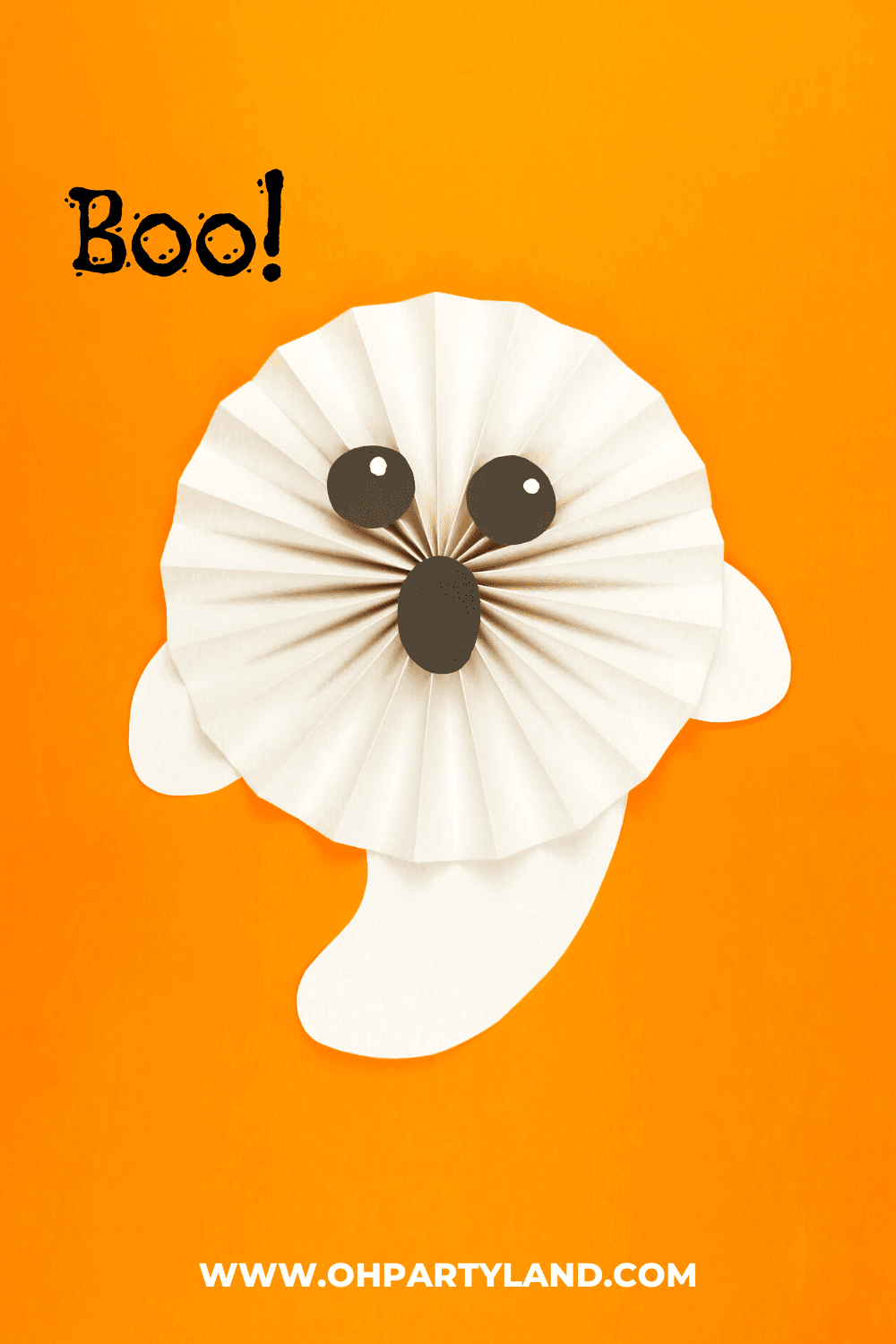 halloween-ghost-paper-rosettes
