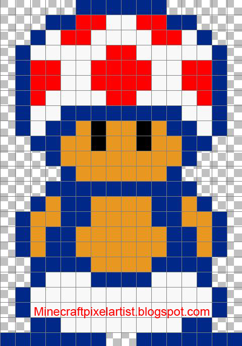 Minecraft Pixel Art Templates And Tutorials Toad Minecraft Pixel