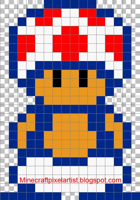 Minecraft Pixel Art Templates and Tutorials Toad-Minecraft Pixel - minecraft pixel art template
