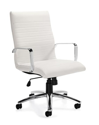 White Leather Boardroom Chair