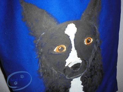 pies malowany ręcznie handmade Adzik tworzy