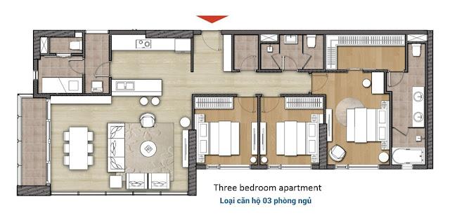 Thiết kế căn hộ 3 phòng ngủ Diamond Island - căn hộ đảo Kim Cương quận 2.