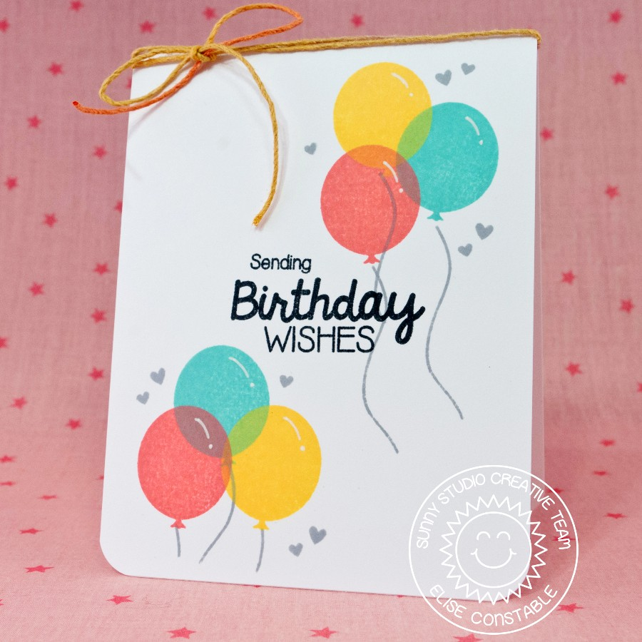 Sunny Studio Stamps Birthday Smiles Balloon Card By Elise Constable