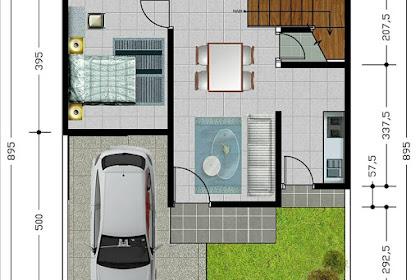 34 Gambar Denah Rumah Type 80 Minimalis Modern