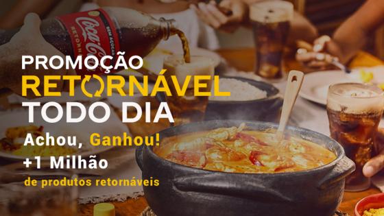 Promoção Coca-Cola Retornável Todo Dia: Achou, Ganhou + 1 Milhão de Produtos Retornáveis