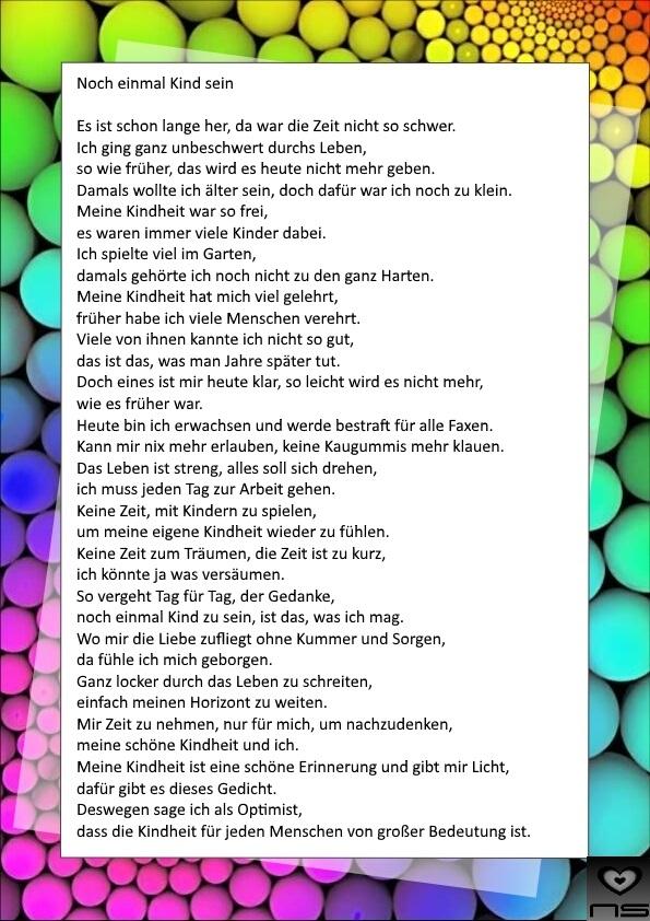 Gedichte Von Nicole Sunitsch Autorin Noch Einmal Kind