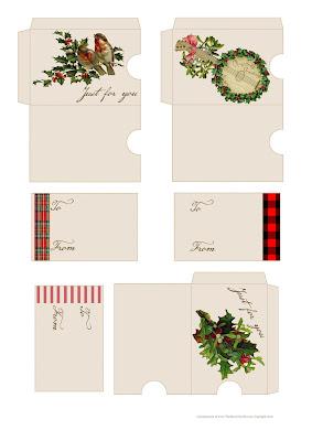 free printable christmas gift card holders sleeves diy