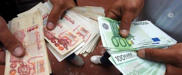سعر اليورو بالدينار الجزائري في السوق السوداء اليوم