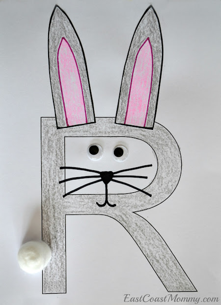 Letter R Rabbit Craft Preschool