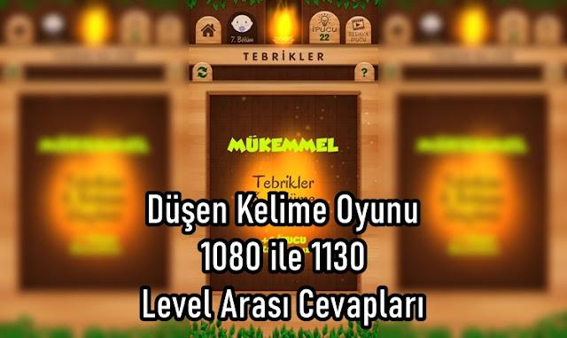 Düşen Kelime Oyunu 1080 ile 1130 Level Arasi Cevaplari