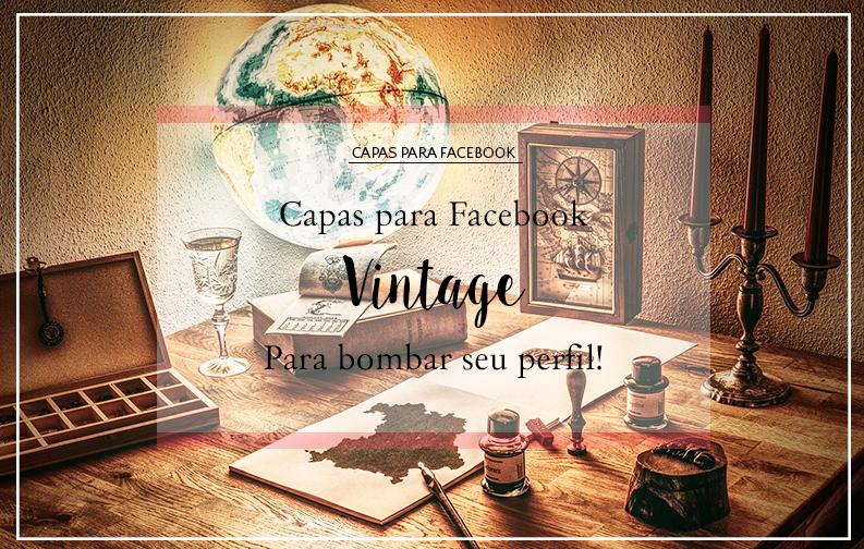 A imagem mostra diversos itens vintage, como caixas de madeira, globo, velas, candelabros, caneta tinteiro, etc