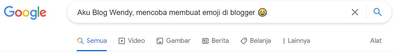Menambahkan Emoji di Postingan Blogger