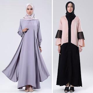 Desain Model Baju Gamis Terbaru Perempuan Berhijab Paling Terkenal