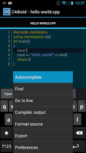 C4droid Apk (C/C++ compiler & IDE) Pro Free Download