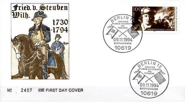 Wilhelm von Steuben to Horse. FDC