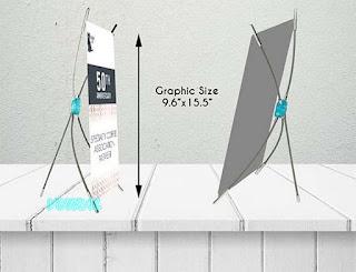 Contoh ukuran Mini X Banner