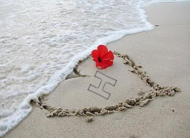 خلفيات قلوب حب مع حرف h