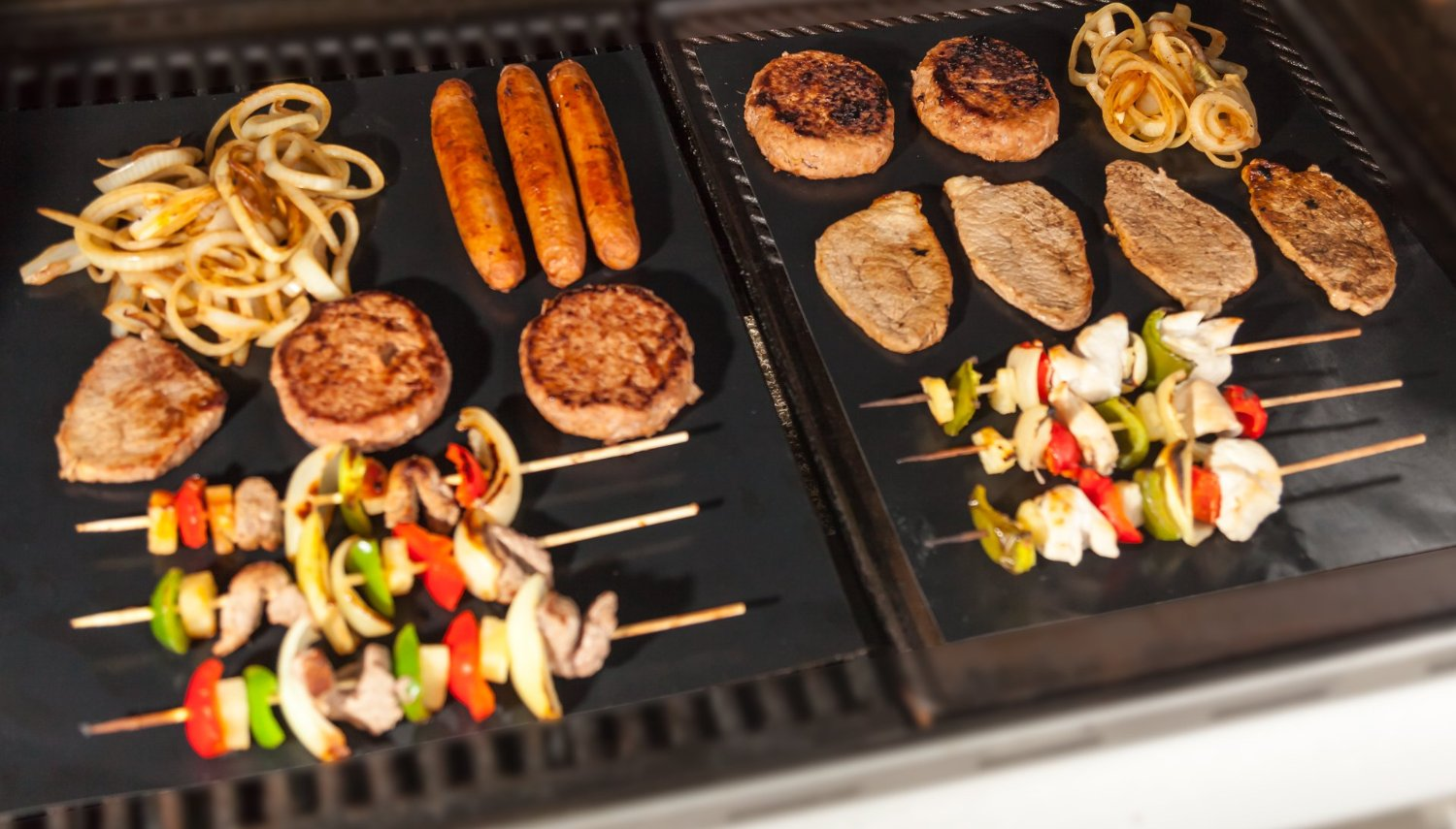 Free BBQ Grill Mats (Set Of 2) Oven Cook Mats + Free