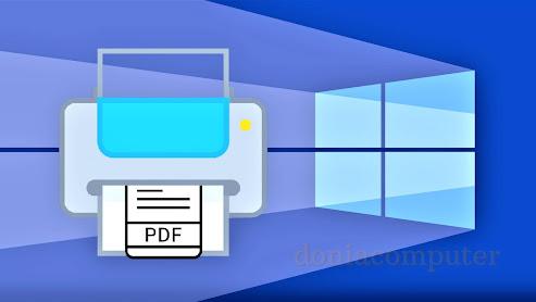 طريقة تفعيل طابعة PDF في ويندوز 10