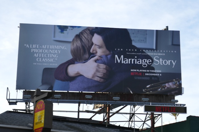 Marriage Story For your consideration billboard
