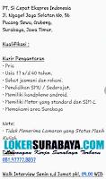 Karir Surabaya di PT. Si Cepat Ekspress Indonesia Terbaru November 2019