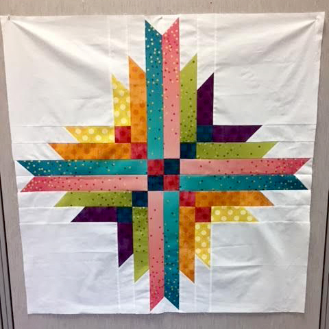 Astrodelic Quilt featuring Utopia collection, designed by Karen Turchan from Courtesy of Art Gallery Quilts