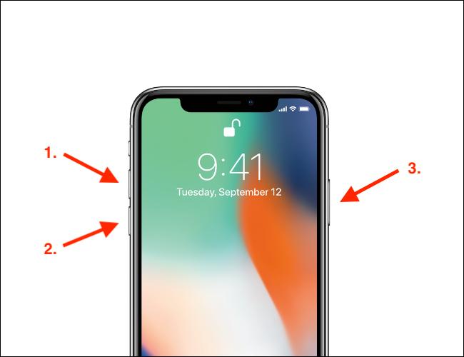 كيفية فرض إعادة تشغيل جهاز iPhone نمط X مع الشق وشريط المنزل