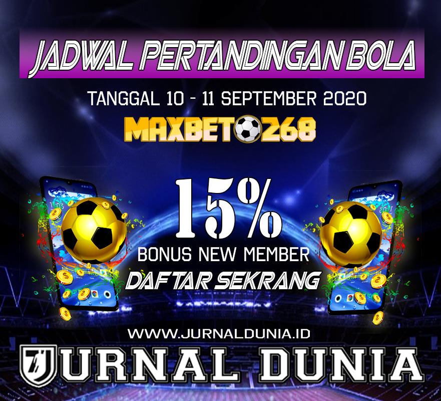 Jadwal Pertandingan Sepakbola Hari Ini, Kamis Tgl 10 - 11 September 2020