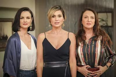 Carolina Kasting, Flávia Alessandra e Débora Olivieri são as mães de Kyra, Luna e Alexia em 'Salve-se Quem Puder',