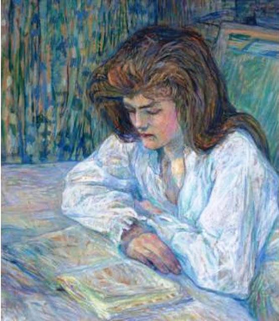 Анри де Тулуз-Лотрек Henri De Toulouse-Lautrec Любительница чтения. 1889
