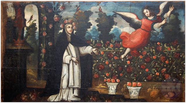 Santa Rosa de Lima envía con el Ángel un mensaje a Jesús