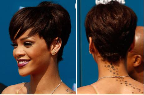 Remarkable Hairstyle Ful Heart Rihanna Short Hairstyles Photos Short Hairstyles Gunalazisus