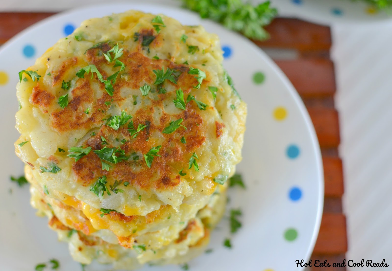 This is one of the best recipes to use leftover mashed potatoes, especially after the holidays! A mixture of fresh herbs, garlic and some cheesy goodness makes this potato pancake perfection!