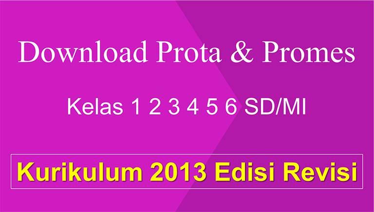 Download Prota Dan Promes Untuk SD/MI Kurikulum 2013 Revisi Terbaru